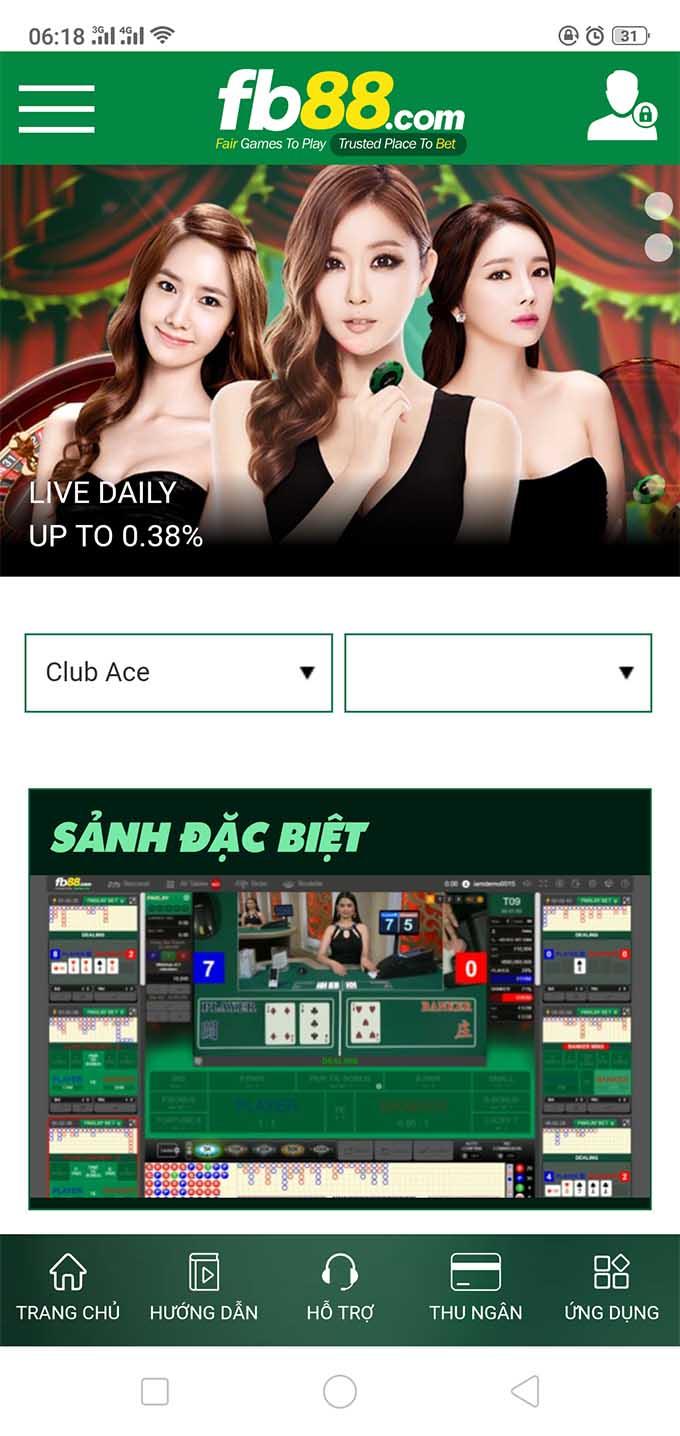 Chơi Casino trên FB88 di động vô cùng đẳng cấp