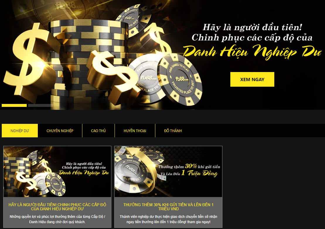 Sự phân cấp trong Club VIP Casino FB88