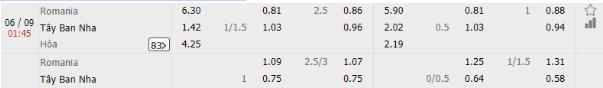 Romania vs Tay Ban Nha 1